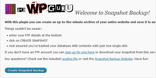Snapshot Backup