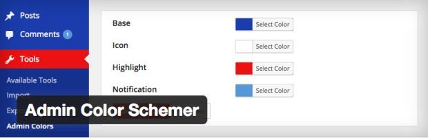 Admin Color Schemer