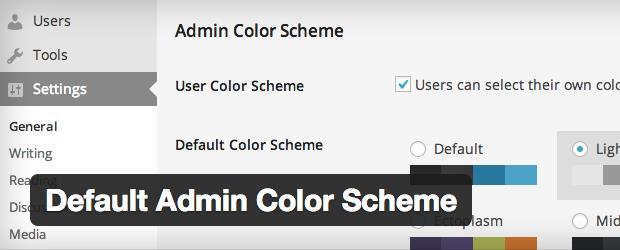 Default Admin Color Scheme