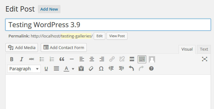WordPress 3.9 TinyMCE 4.0