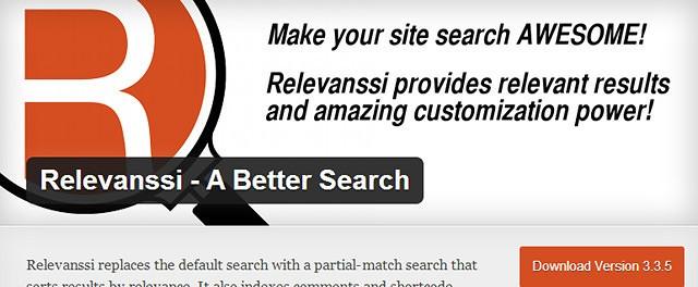 Relevanssi recherche WordPress