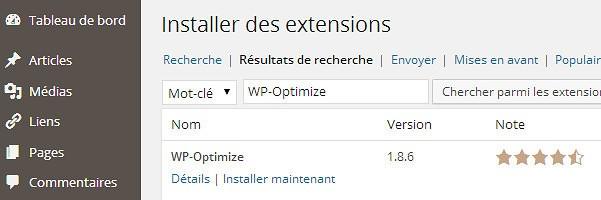 installer WP-Optimize