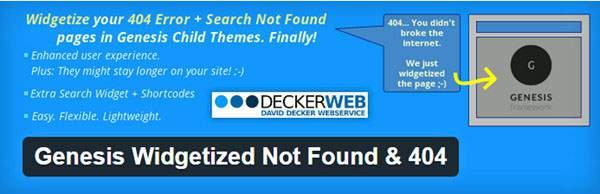 Genesis Widgetized Not Found & 404