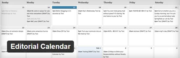 Editorial Calendar - Le meilleur calendrier éditorial