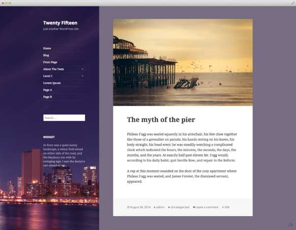 WordPress 4.1 - Twenty fifteen
