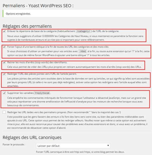 WordPress SEO by Yoast-Permaliens