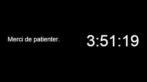 Ecran d'attente Hangout