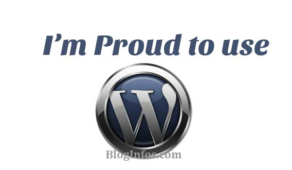 Proud tio use WordPress