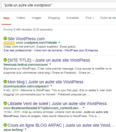 slogan WordPress