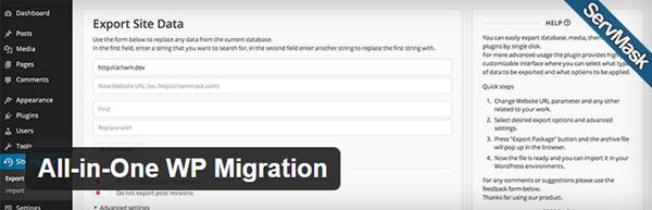 migrer votre installation WordPress avec  All-in-One-WP-Migration