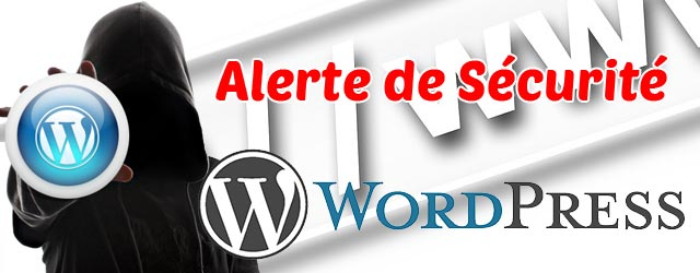 Alerte de sécurité WordPress