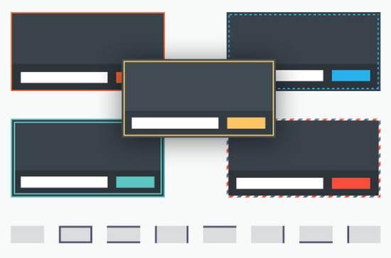 5 types de bordures pour les formulaires
