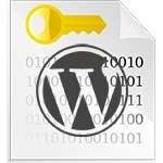 clé de sécurité WordPress