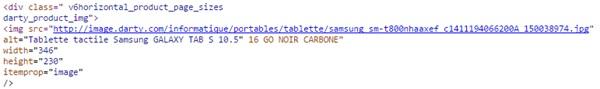 balise Alt - code source