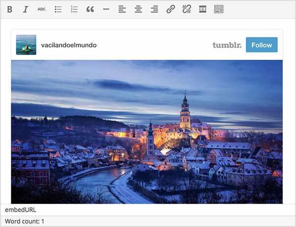 WordPress 4.2 - Nouveau contenu intégré