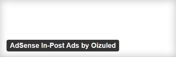 AdSense In-Post Ads by Oizuled