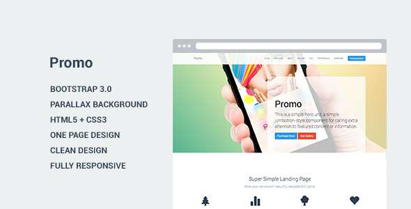 Promo - Landing Page Template