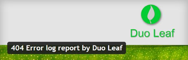 404 Error log report