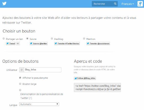 Twitter follow generator