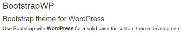 Bootstrap WP