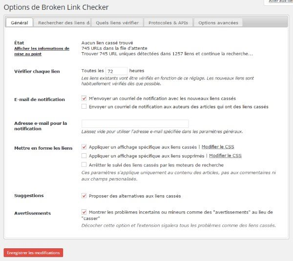 brokenlinkschecker-settings