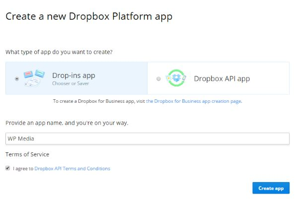 Dropbox-Creation-App