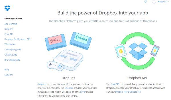 Dropbox Developpeur Accueil