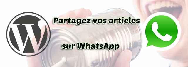 Partagez vos articles WordPress sur WhatsApp