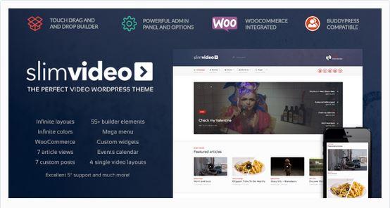 Thèmes vidéos WordPress - SlimVideo