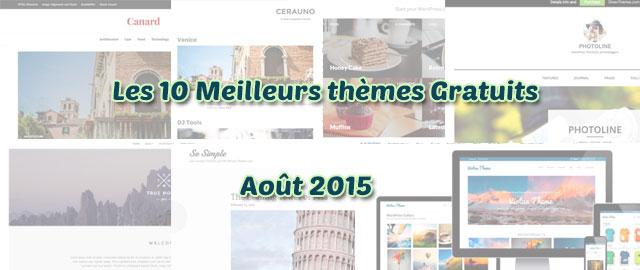 meilleurs thèmes gratuits – Août 2015