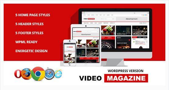 Thèmes vidéos WordPress - Video Magazine