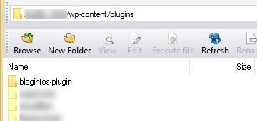 Dossier du plugin spécifique
