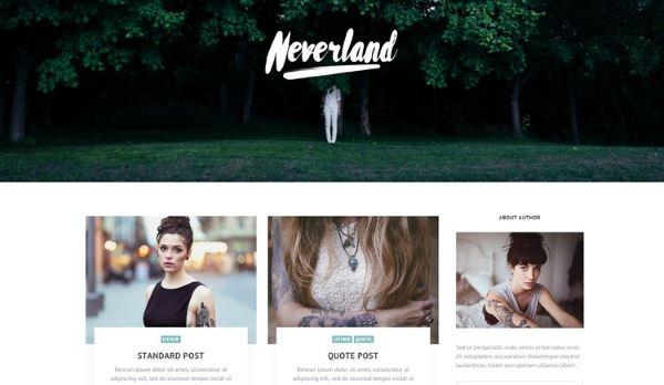 Neverland - thèmes gratuits – Septembre 2015