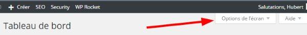 Les fonctionnalités peu connues de WordPress - Options écran