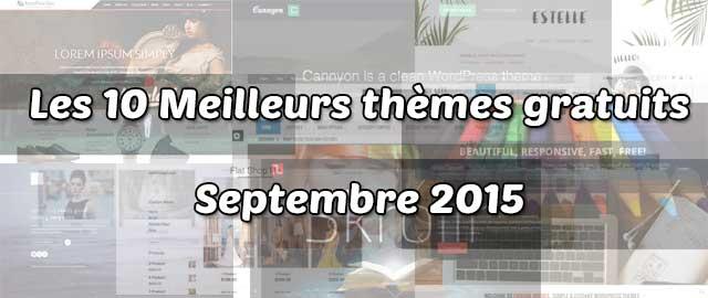 Les 10 meilleurs thèmes gratuits – Septembre 2015