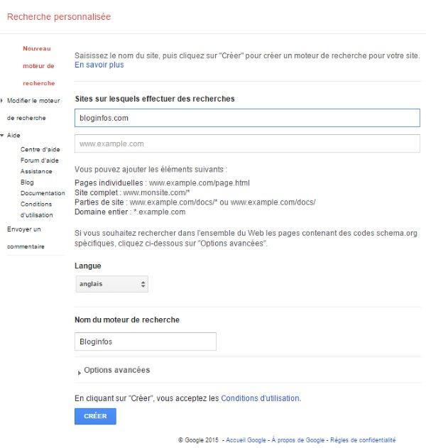 Ajouter Google Custom Search à WordPress