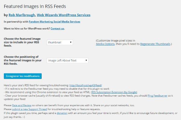 Ajouter les images vedettes aux flux RSS de WordPress