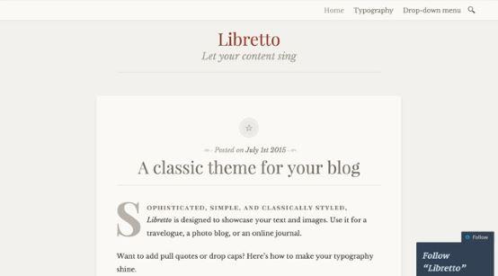 Thèmes gratuits Octobre 2015 - Libretto
