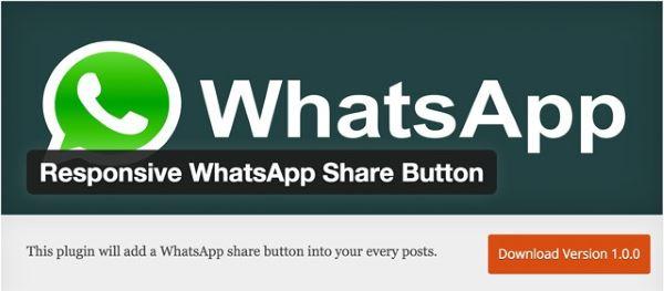 Plugin gratuits - Responsive WhatsApp Share Button