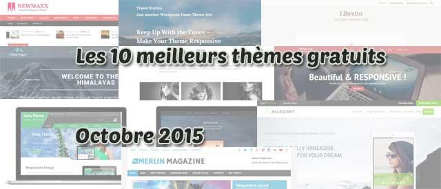 Les 10 meilleurs thèmes gratuits – Octobre 2015