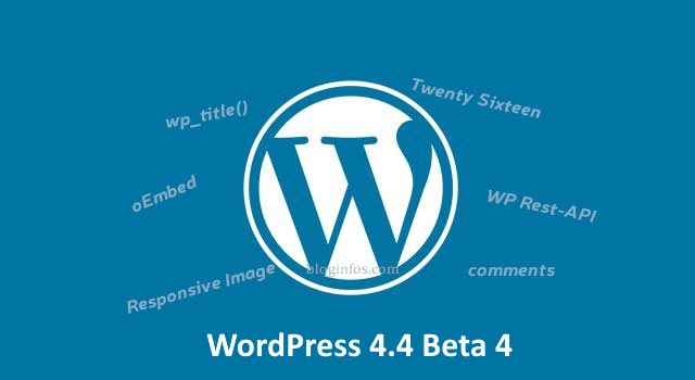 WordPress 4.4 beta 4