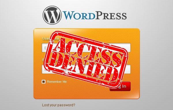Verrouiller la page de connexion de WordPress