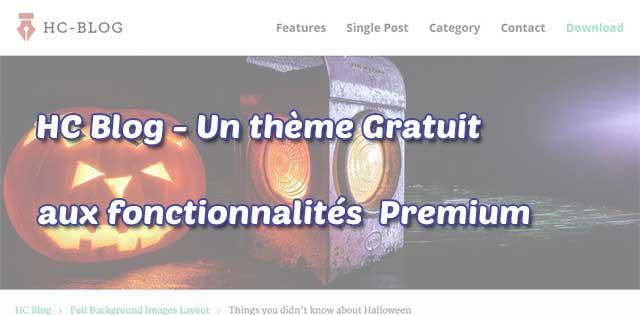 HC Blog - Le Theme Premium gratuit qui vous ravira