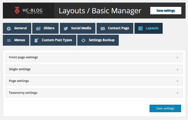 HC Blog - basic layout manager