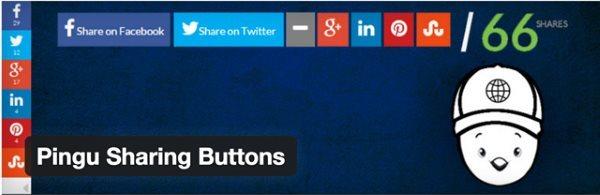 10 nouveaux plugin WordPress gratuits - Pingu Sharing Buttons