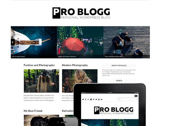 Thèmes gratuits – Pro Blogg