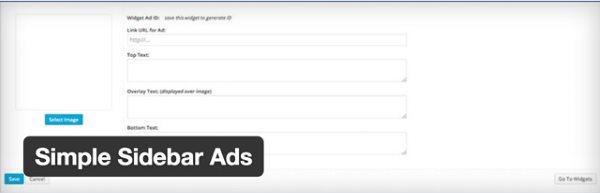 10 nouveaux plugin WordPress gratuits - Simple Sidebar Ads