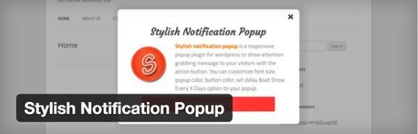 10 nouveaux plugin WordPress gratuits - Stylish Notification Popup