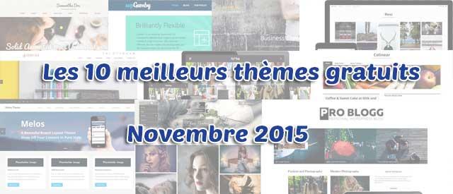 Les 10 meilleurs thèmes gratuits – Novembre 2015