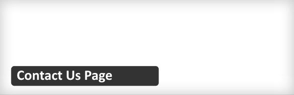 Plugin WordPress gratuits - Contact Us Page